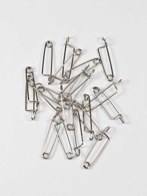 corsagespeldjes 20 stuks zilverkleurig