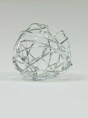 draadbal 2 cm zilver