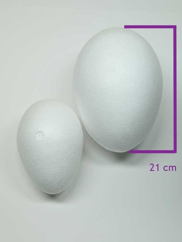 vormen van piepschuim een ei 21 cm