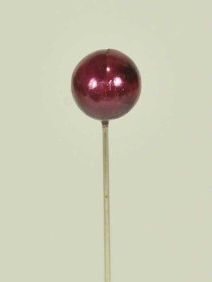 decoratiespeld wijnrood 9 mm