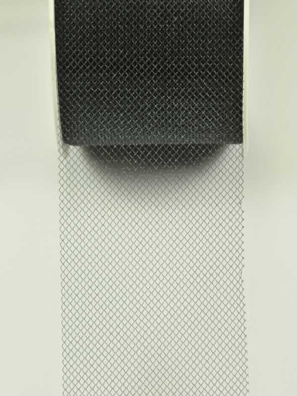 materiaal-voor-bloemschikken-tule zwart