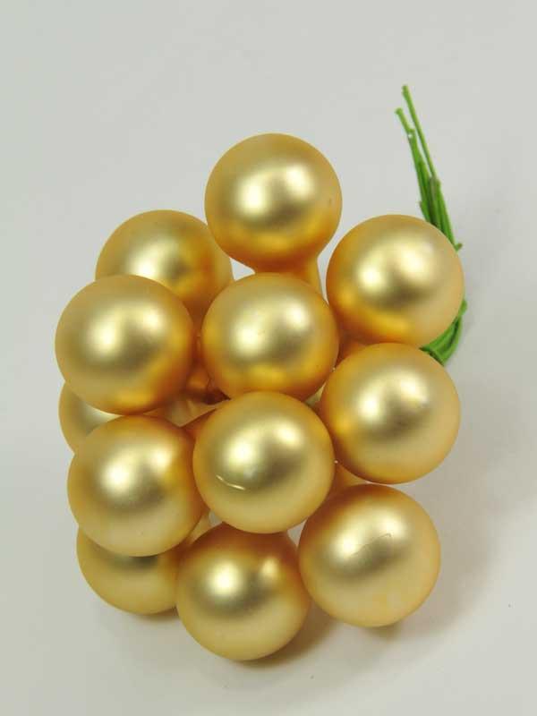 kerst-glasballetjes-mat licht goud-kerstdecoratie-artikel
