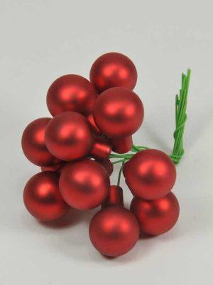 kerst-glasballetjes-mat rood-kerstdecoratie-artikel