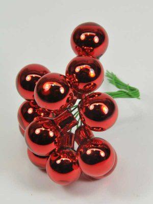 kerst-glasballetjes-glanzend rood-kerstdecoratie-artikel