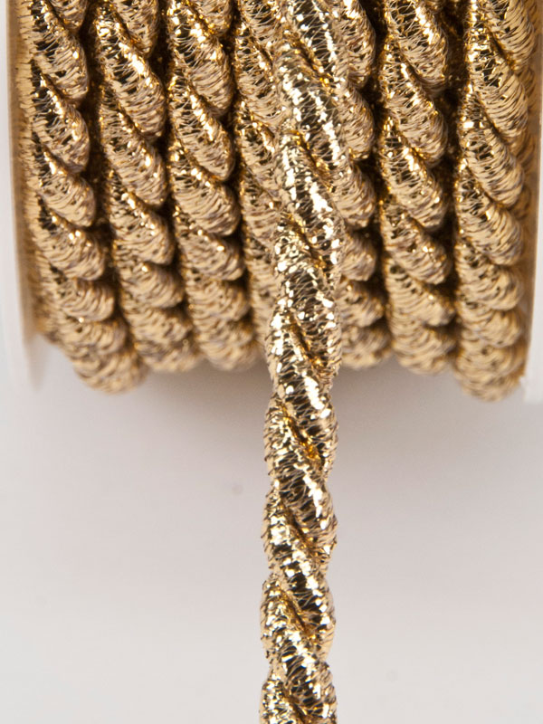 decoratiekoord goud-glitter