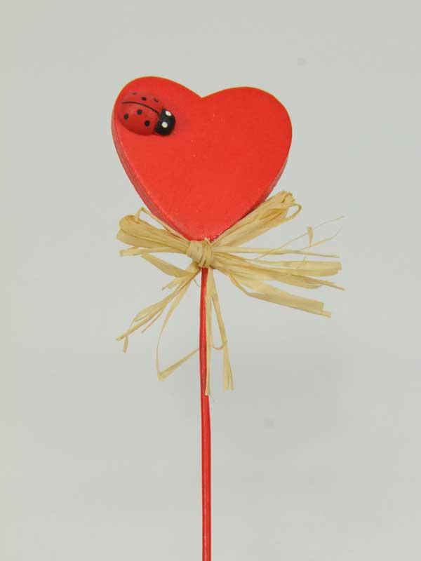 materiaal voor bloemschikken hart met lieveheersbeestje