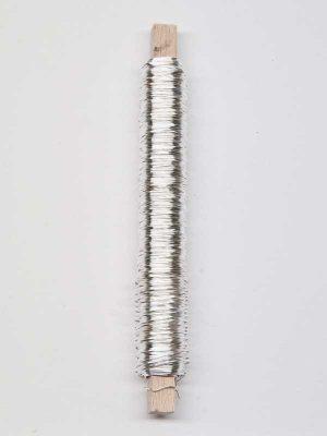 Wikkeldraad zilver bloemschikmateriaal