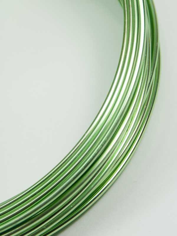 aluminiumdraad lichtgroen 12 meter
