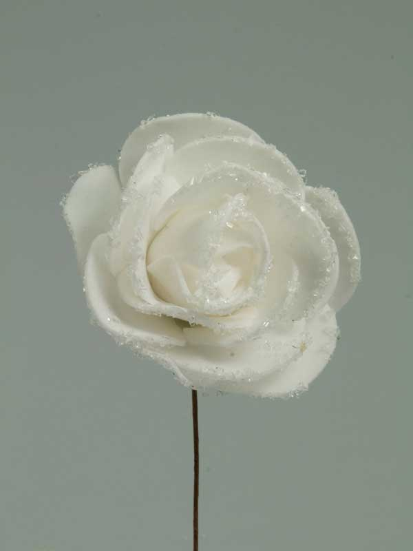 foamroos met suikerrand 5,5 cm