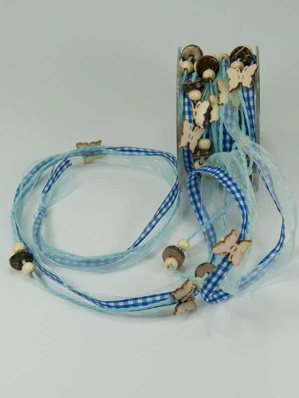 lint 3 in 1 blauw voor bloemschikken