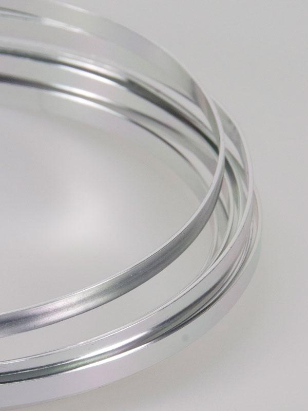 plat aluminiumdraad voor bloemschikken zilver 3 meter