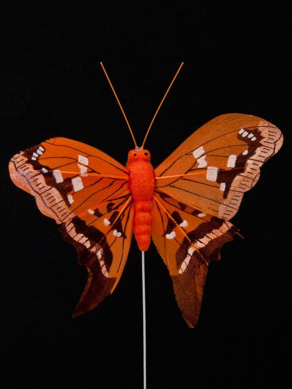 Vlinder voor decoratie, oranje