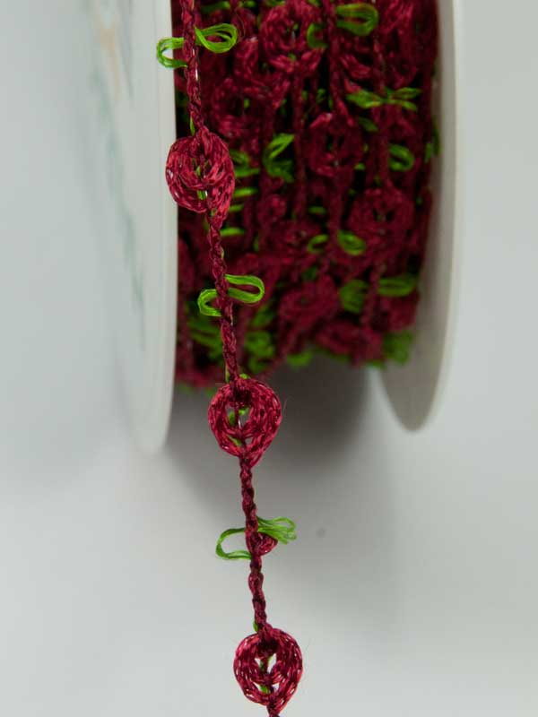 bloemschikken - rozenknoopjes lint