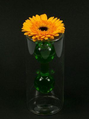 double vase met bloem