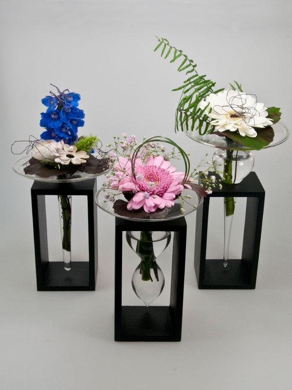 Serax vazen, opgemaakt samen met de twee andere modellen