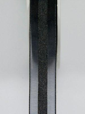 zwart organza lint 12 mm