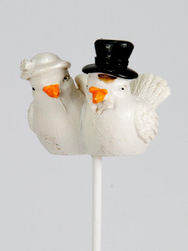 bruidspaar duif op steker - huwelijk