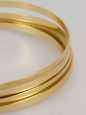 aluminiumdraad plat kleur goud