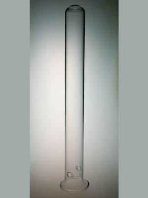 Reageerbuisje 20 cm lang, 20mm doorsnede, met ophanggaatjes