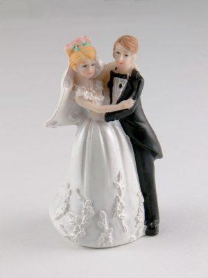 bruidspaar taarttopping 7 cm hoog