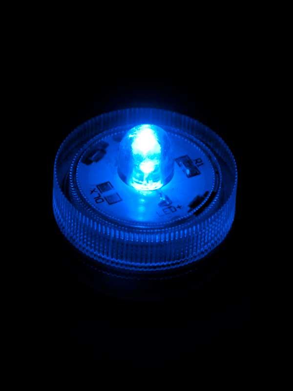 LED lichtjes, onder water in een vaas met bloemen