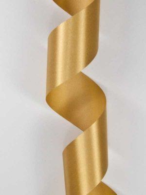 Satijn-lint kleur goud, breedte 40mm