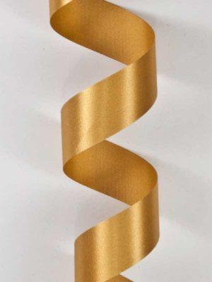 Satijn-lint kleur goud, breedte 25mm