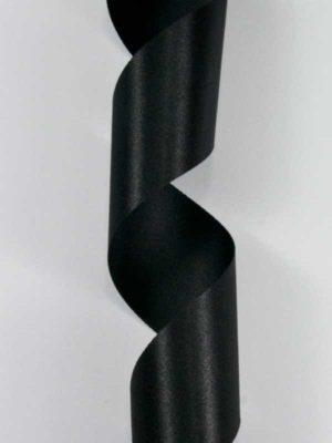 Satijn-lint kleur zwart, breedte 40mm