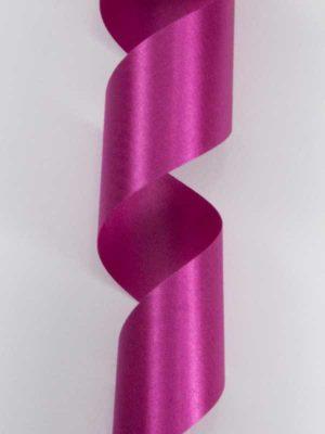 Satijn-lint kleur donkerroze, breedte 40mm