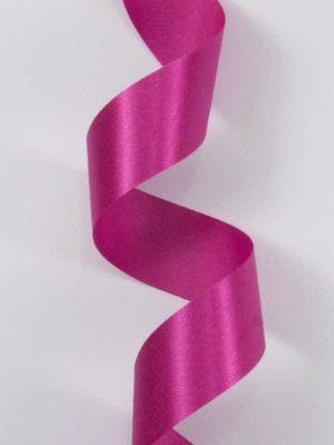 Satijn-lint kleur donkerroze, breedte 25mm