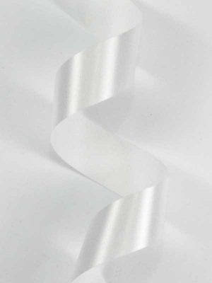 Satijn-lint kleur wit, breedte 25mm