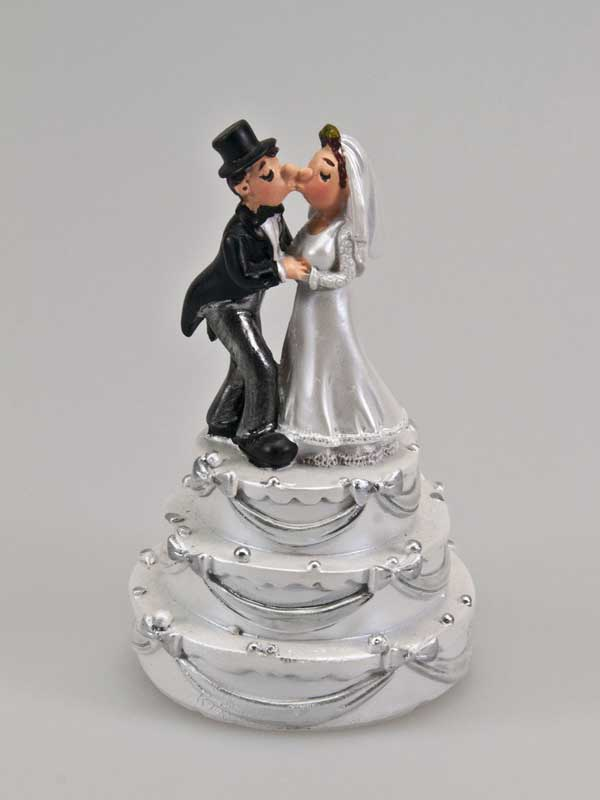 bruidspaar op taart taarttopping
