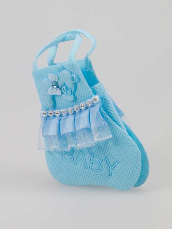 Baby tasje lichtblauw per stuk for Decoratie stuk om te leven