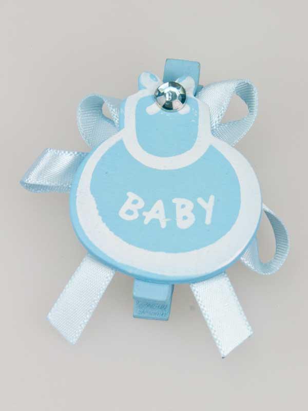 Slabbetje op knijper,leuk als decoratie op een geboortegeschenk, of om te gebruiken bij het zelf maken van een kraamcadeau.