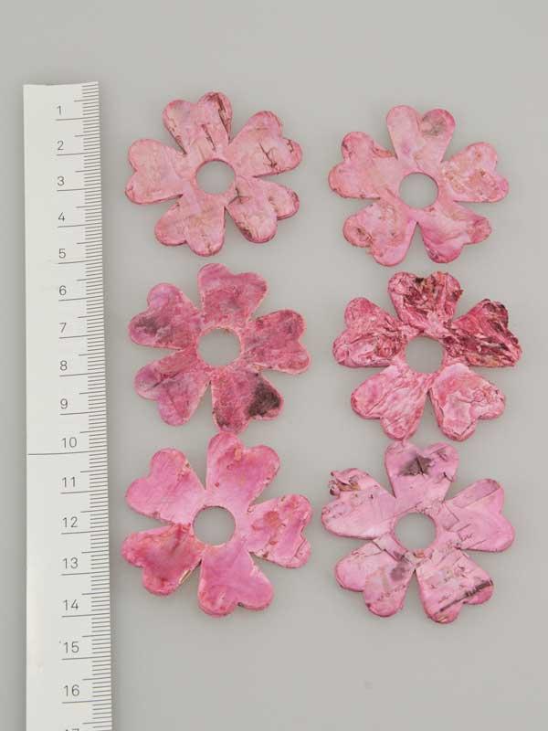 Berkenschors bloem roze - 6 stuks