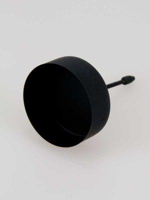 waxinelichthouder-op-steker, zwarte versie