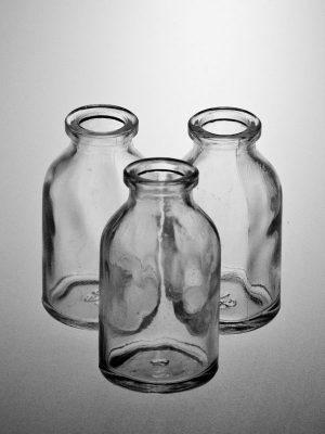 Glazen mini-flesjes