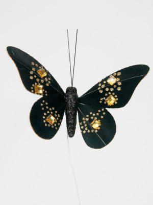 decoratievlinder zwart