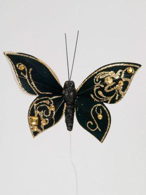 zwarte vlinder voor decoratie