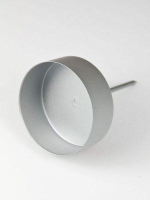 waxinelichthouder zilver mat