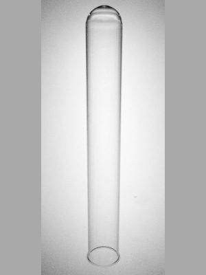 Brede glazen reageerbuis 20 cm lang