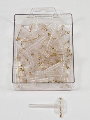 transparante corsageclip