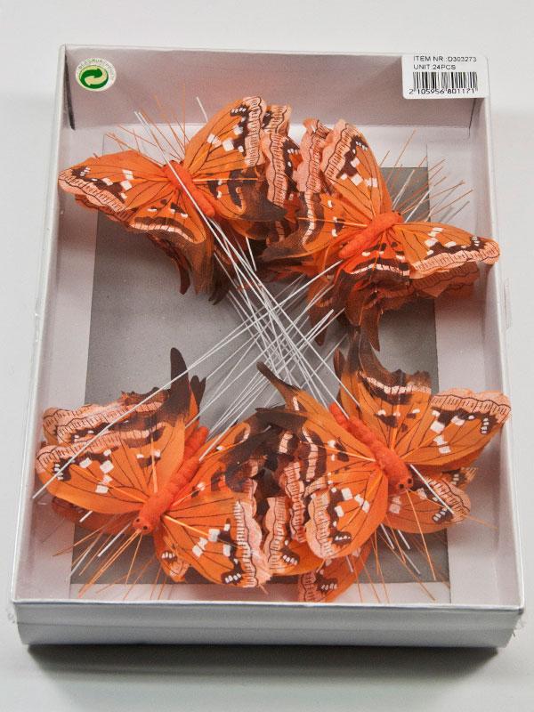 doos oranje vlinders