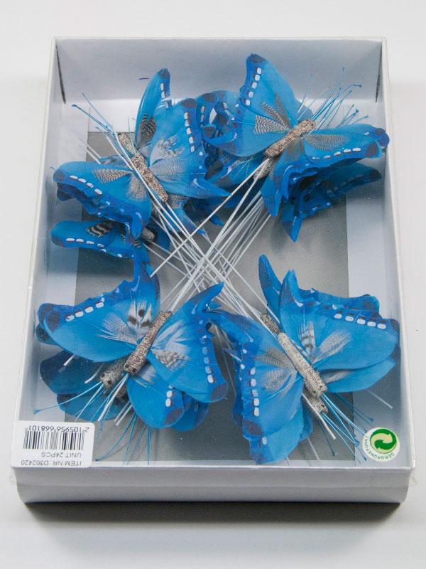 doos blauwe vlinders