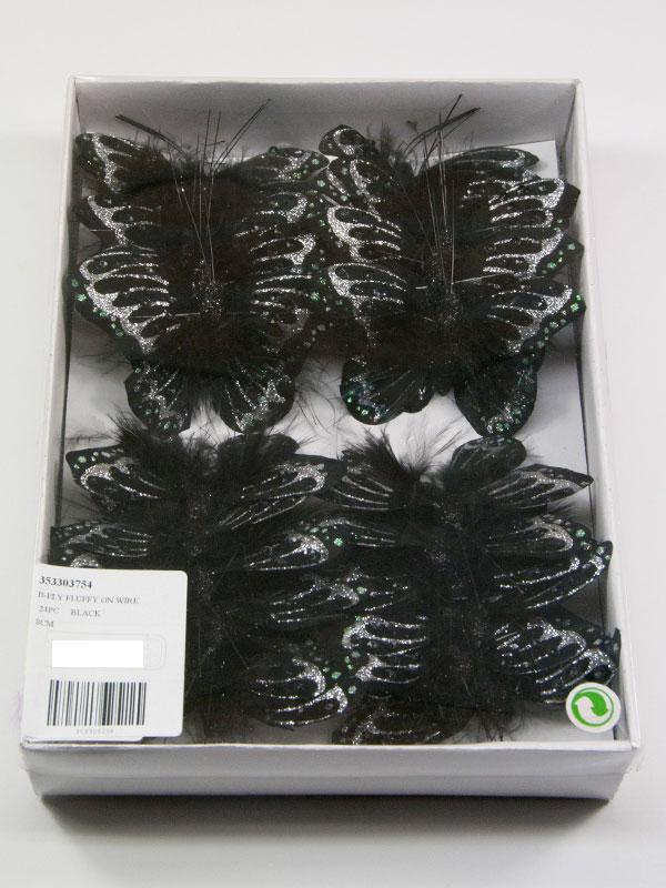 doos zwarte vlinders fluffy