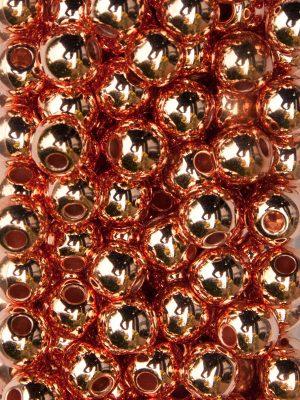 rijgparels metallic koper