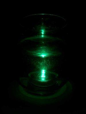 onderwater led groen in glas