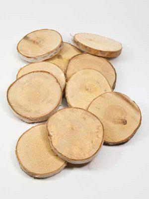 houten schijfjes berk