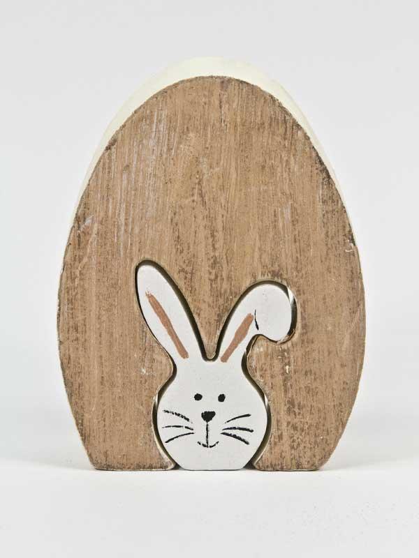 houten konijntje twee in een