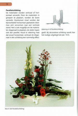 Handboek bloemschikken pag 74